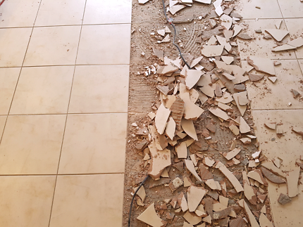 Tile removal/ concrete grinding