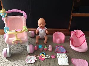 Vintage Baby born doll plus accessories Berwick Casey Area Preview