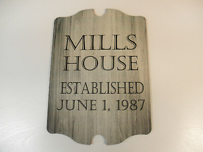 (wedding plaque, gift or house warming, wall hanging, personalized)