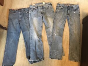 Fox, a&f and dc jeans.
