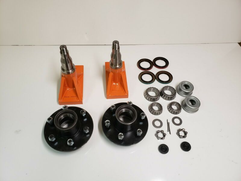 6x 5.5 Lug Superior Quick-set Shipping Container Wheels,  Kit (1 Set)