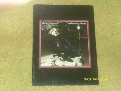 "Barbra Streisand THE BROADWAY ALBUM Press Kit: CUSTOM FOLDER, 8"" x 10"" Pic, Bio"