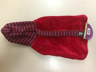 Petrageous Designs Dog Hooded Sweater Red With Striped Hood Small New