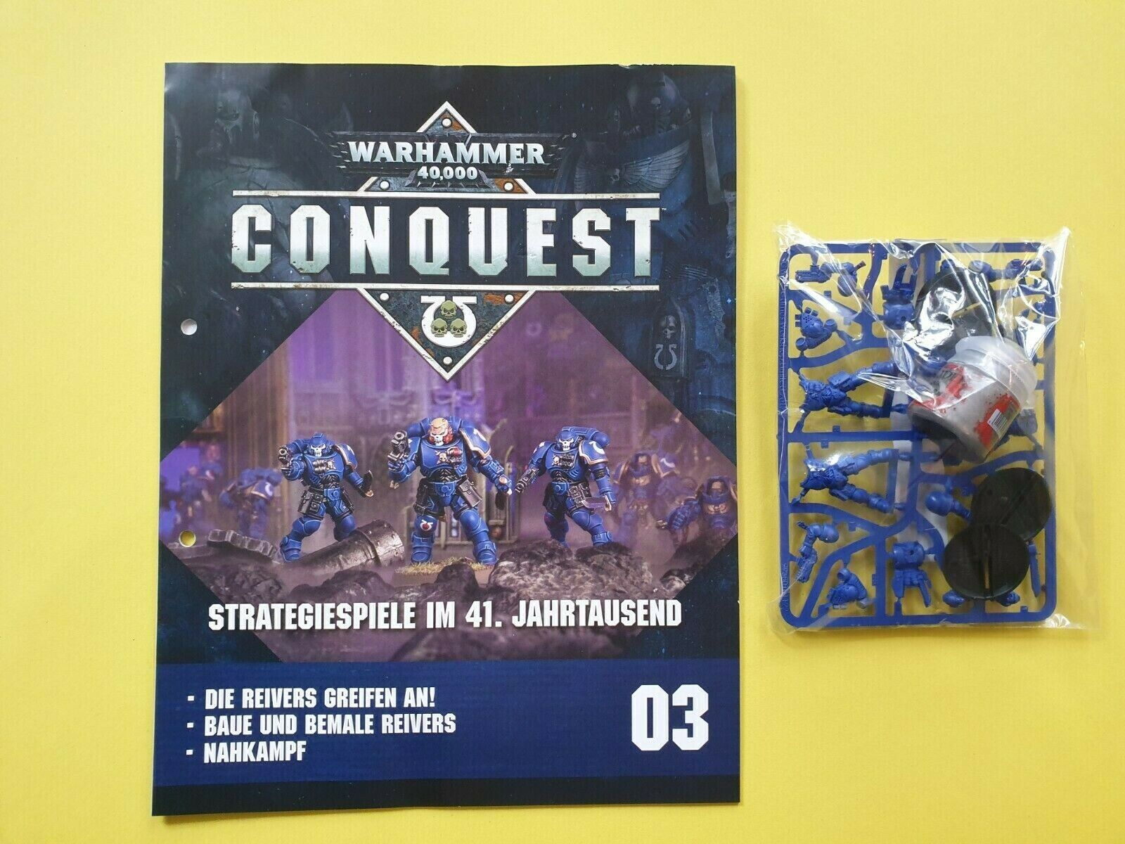 Warhammer 40 k Conquest 01 Space Marines Strategiespiel Sammelserie Teil 3   Neu