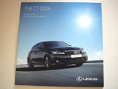 Lexus . CT . 200h . January 2012 Sales Brochure