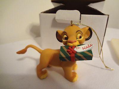 Simba W/Gift Christmas Magic Ornament Disney Grolier  #161 Vintage Original
