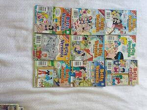 9 COMIC BOOKS BETTY AND VERONICA  ARCHIE  DIGEST LIBRARY Panorama Mitcham Area Preview