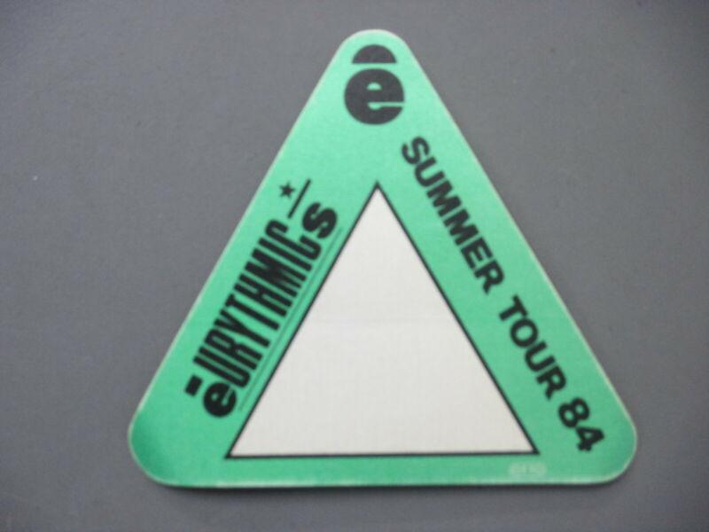 Eurythmics backstage pass satin sticker AUTHENTIC Summer Tour