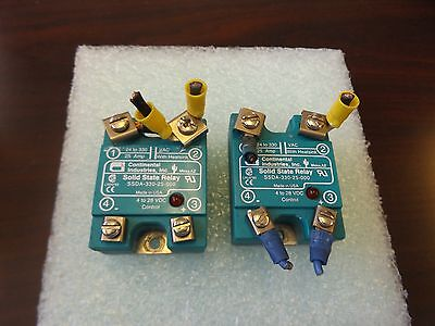 Wholesale Liquidation Continental Ssda-330-25-000 Solid State Relay Lot Of 2