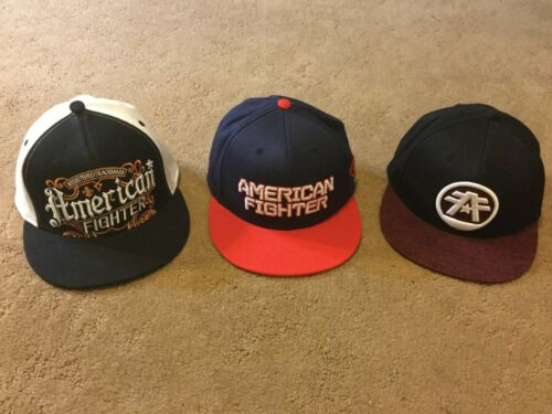 LOT - AMERICAN FIGHTER BASEBALL CAPS HATS CLOTHING ACTIVE WEAR