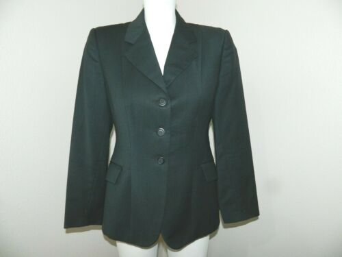 The Grand Prix (Canada) Girl Black Competition Equestrian Virgin Wool Jacket 14R