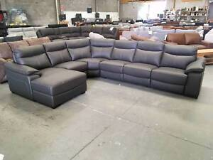 SOFAS, CORNER LOUNGES AND RECLINING CORNERS (LEATHER) WHOLESALE!! Eumemmerring Casey Area Preview