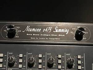 SOLID STATE ANALOG SUMMING MIXER 24 X 4 NEUMANN V475-2A AMP Kingsgrove Canterbury Area Preview