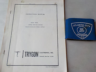Trygon Tp3e Super Trypack Series Power Supply Instruction Manual