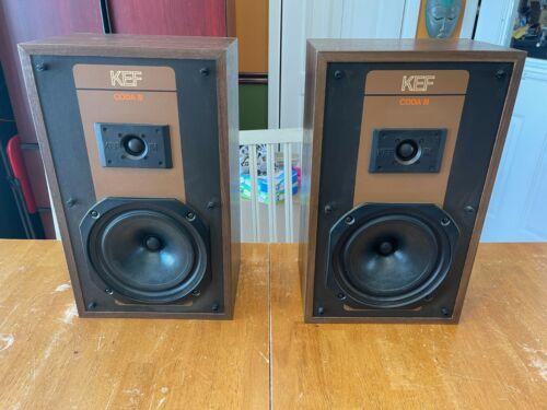 Vintage KEF Coda III Speakers 2 Way floor/bookshelf speakers made in England