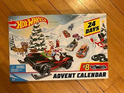 Hot Wheels 24-day Advent Calendar Vehicles Collectible Gift Mattel