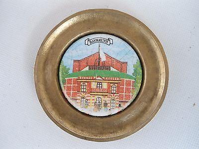 """Deko-Teller """"Bayreuth"""", Messing, Keramik"""