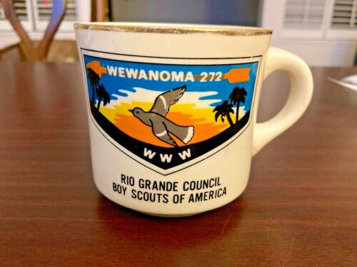 BOY SCOUTS OF AMERICA CUP - WEWANOMA 272, RIO GRANDE COUNCIL, ORDER OF THE ARROW