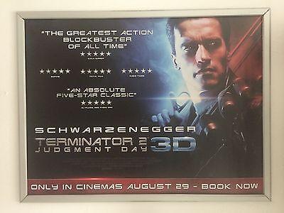 Terminator 2 Judgement Day 20th Anniversary UK QUAD CINEMA POSTER T2 Rare.