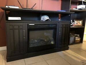 Tv Console Fireplace