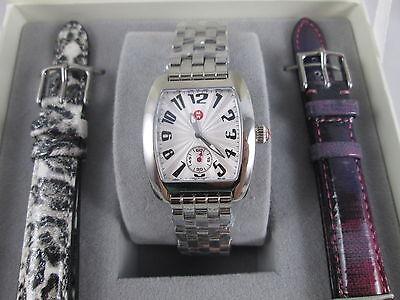 NEW Michele Urban Mini Silver Watch Gift Set + Bands & Bracelet MWW02A000602 Box