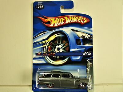 HOT WHEELS FORD WAGON 8 CRATE WITH RED LINES NEW IN THE PACKAGE SUPER NICE
