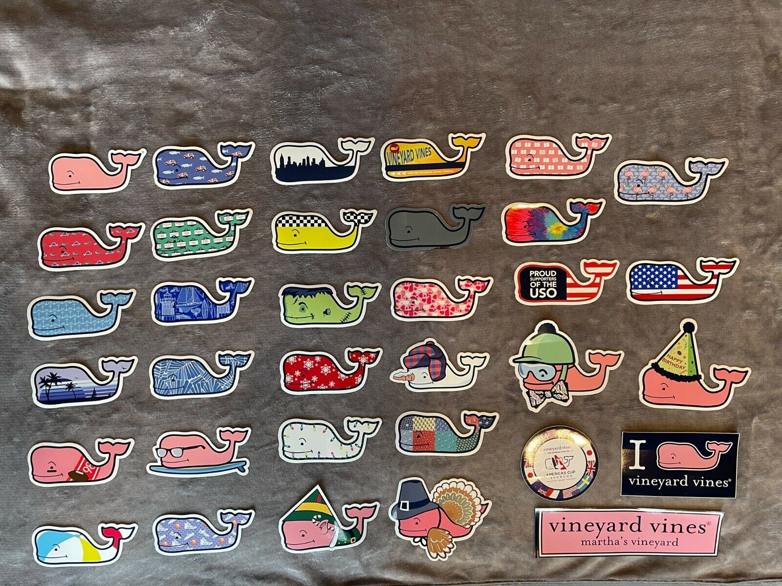 Home Decoration - UPDATED - Assortment Of 32 Vineyard Vines Stickers 100% Authentic & Rare