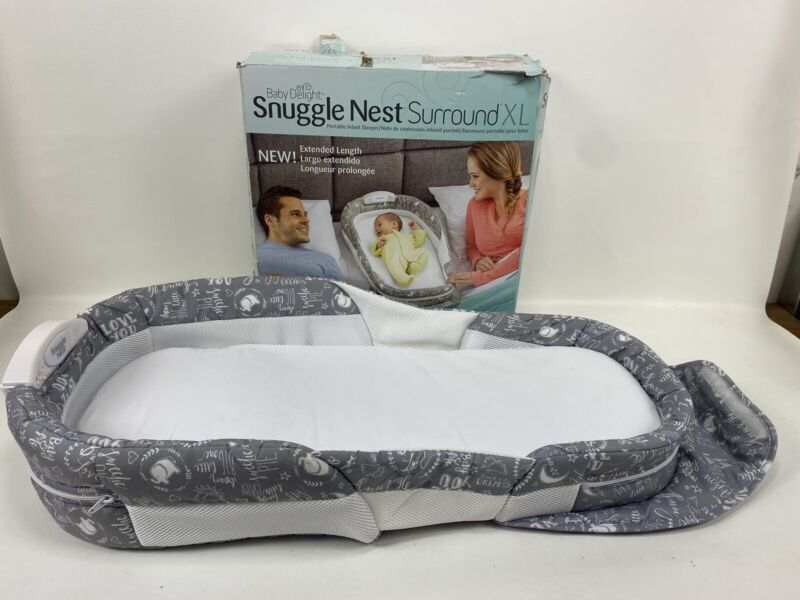 Baby Delight Snuggle Nest XL Surround Gray