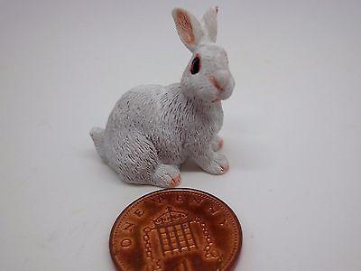 1:12 Scale Dolls House Miniature Rabbit Garden Animal Pet Accessory (w2)
