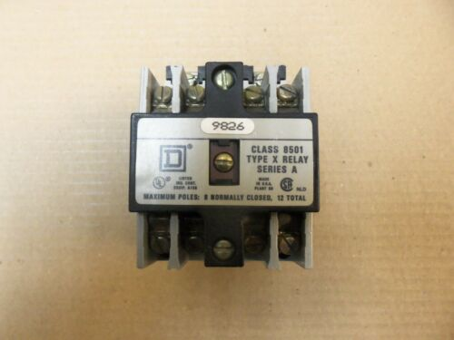 Square D Industrial Control Class 8501 Type X Relay Series A 120v 60Hz Coil