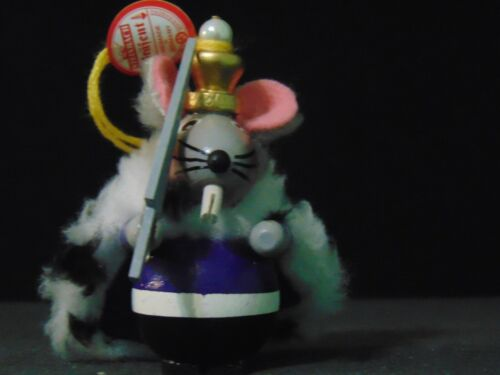 """Steinbach Wooden Ornament From The Nutcracker """"Mouse King"""" ~ Made In Germany"""