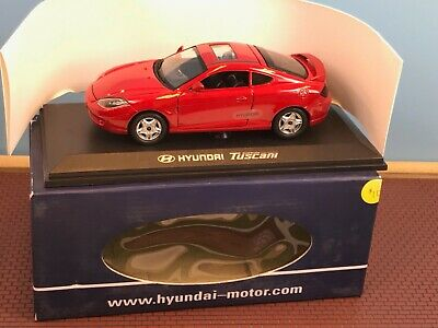 Vintage Diecast Hyundai Tuscani / Tiburon Red New in Box Korea Dealer Model 1:24