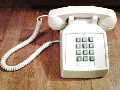 Vintage Cortelco Push-Button Desk Phone, Tested & Works!