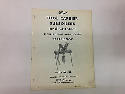 Ford Fordson Tractor Tool Carrier Subsoiler Chisel 10-319 To 10-323 Parts Book