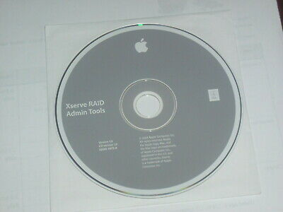 Apple Xserve RAID Admin Tools Installation CD, Version 1.3, 2003 0Z691-4972-A