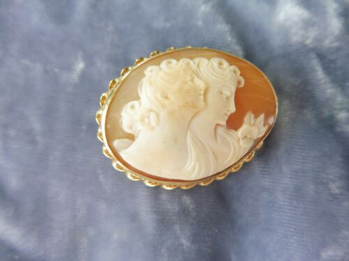 UNUSUAL 14K GOLD DOUBLE FACE CAMEO PIN OR PENDANT