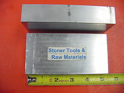 2 Pieces 1x 2-12 Aluminum 6061 Flat Bar 5 Long T651 Solid Plate Mill Stock