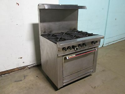 Garland Commercial H.d. Natural Gas 6 Burners Stove Woven S.s. Shelf