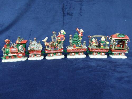 Danbury Mint Miniature Schnauzer Express Christmas Dog Train