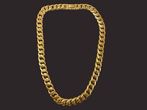 22KT CURB LINK SOLID GOLD MENS CHAIN.