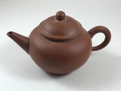 Antique Small VTG Chinese Yixing Zisha Teapot Red Clay Terracotta Artist Stamped