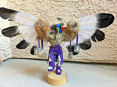 "Navajo Handmade 11"" X 16"" Eagle Dancer Kachina Doll Sculpture by Begay.Pristine. for sale  Henderson"