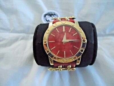 New Versus by Versace Women's Miami Quartz Red Watch w/extra band