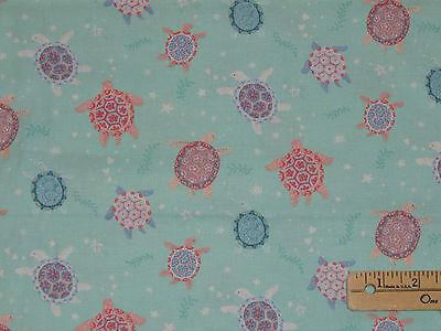 - Mermaid Dreams Turtle Underwater Fabric by the 1/2 Yard  #3753