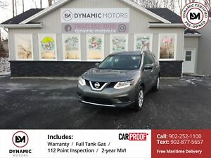 2015 Nissan Rogue S AWD! CAMERA! OWN FOR $136 B/W, 0 DOWN, OAC