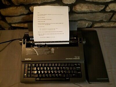 Brother Sx-14 Portable Electronic Typewriter W Cover Works Great