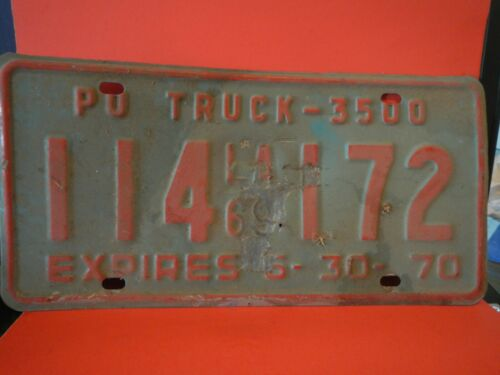 1969 LOUISIANA Truck License Plate Original