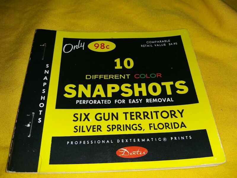 Six Gun Territory Silver Springs Florida 10 Color Snapshots Vintage from 1977