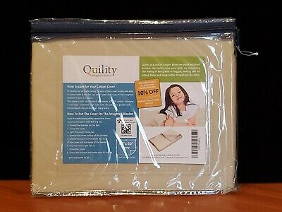 "Quility Premium Adult Removable Duvet Cover for Weighted Blanket 41"" x 60"" Ivory"
