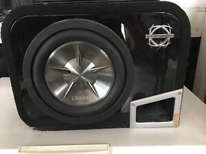 "10"" Clarion Subwoofer and Amplifier"